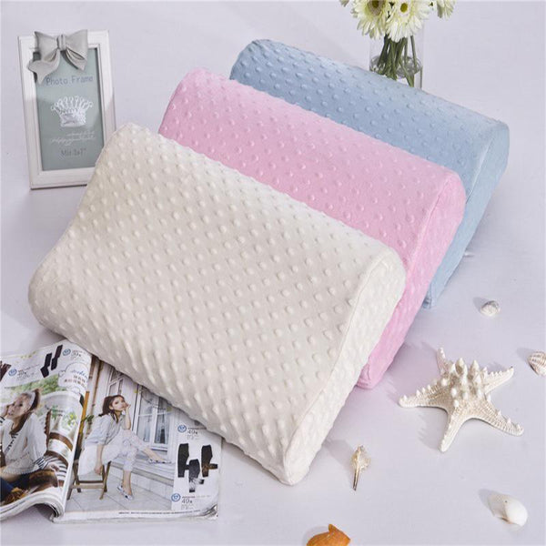 PINkart-USA Online Shopping 3 Colors Foam Memory Pillow Orthopedic Pillow Travel Sleeping Latex Neck Pillow Rebound Pregnancy