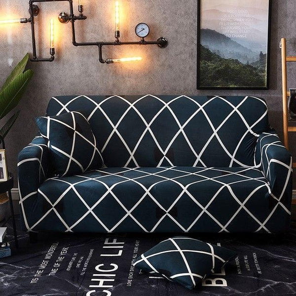 PINkart-USA Online Shopping 3 / Four seater Geometric Elasti Elkc All-Inclusive Sofa Cover Christmas Living Room Slipcover Protective Universal