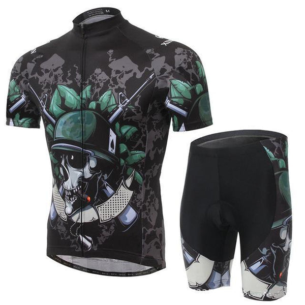 PINkart-USA Online Shopping 3 / L Skull Style Summer Cycling Clothing/Short Sleeve Cycling Jersey Ropa Ciclismo/Mtb Bike Jersey