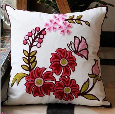 PinKart-USA Online Shopping 3 no filling Hot National Style Sofa /Carcushions Flowers And Fashion Pillows Decorate Hand-Embroidered
