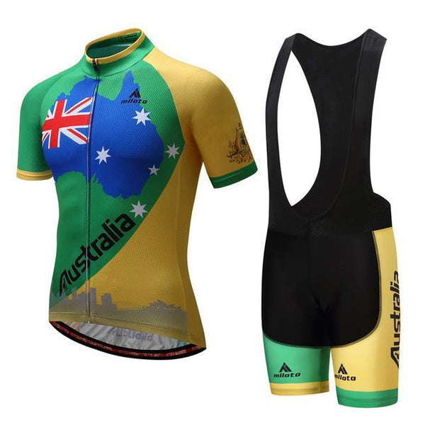 PINkart-USA Online Shopping 3 / S Australia Bike Team Racing Sport Cycling Jersey Ropa Ciclismo Sumemr Mtb Bike Jersey Cycling