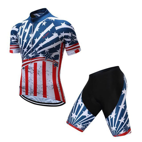 PINkart-USA Online Shopping 3 / S Teleyi Brand Pro Team Racing Sport Cycling Jersey Sets Men Usa Style Mtb Road Bike Jersey Quick Dry