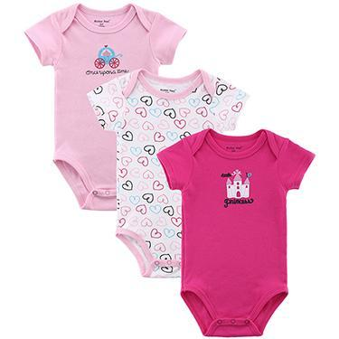 PINkart-USA Online Shopping 3068125 / 3M Mother Nest 3 Pieces/Lot Fantasia Baby Bodysuit Infant Jumpsuit Overall Short Sleeve Body Suit