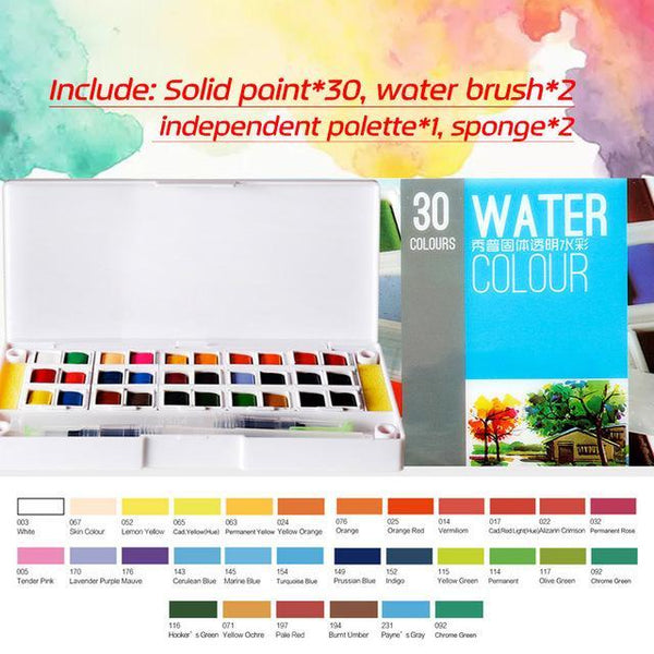 PINkart-USA Online Shopping 30Colors Superior 12 24 30 36 40Colors Pigment Solid Watercolor Paints Set Colored Pencils For Drawing