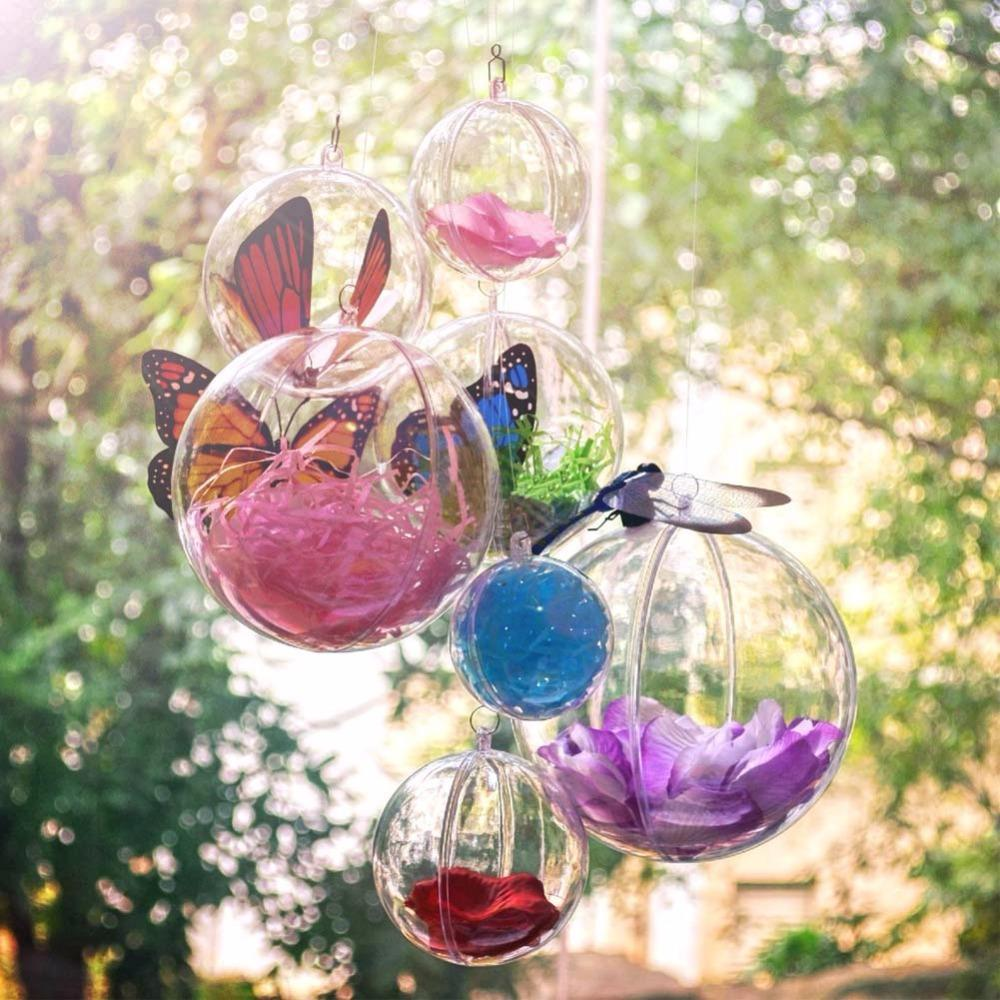 PinKart-USA Online Shopping 30mm / China 10Pcs Clear Plastic Ball For Christmas Tree Decoration Hanging Transparent Ball Candy Box