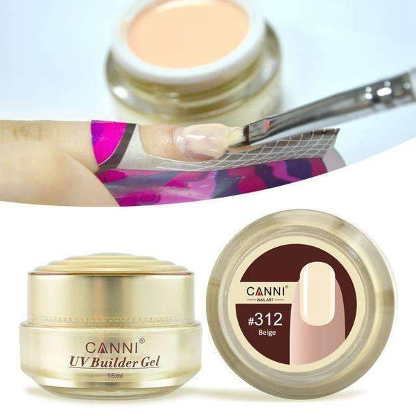 PinKart-USA Online Shopping 312 Canni Jelly Builder Gel 15Ml High Viscosity Semi-Transparent Clear Camouflage 25 Colors 50951 Nail