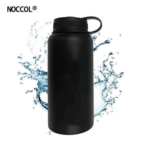 PINkart-USA Online Shopping 32Oz Black Vacuum Water Bottle Eco Friendly Outdoor Insulation Stainless Steel Drink Flask