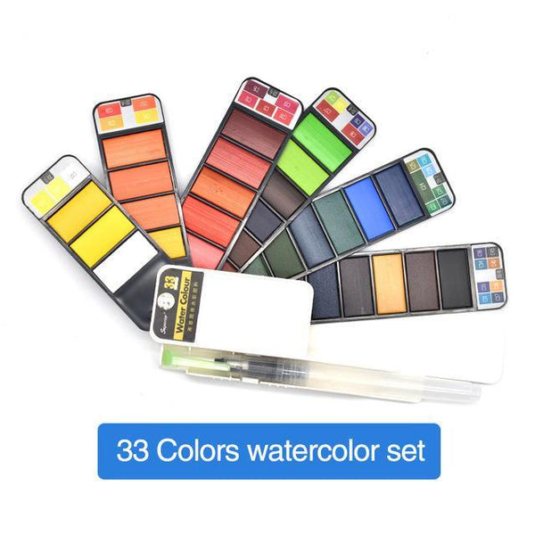 PINkart-USA Online Shopping 33Colors Dainayw 42Colors Pigment Paints Set Solid Watercolor Set