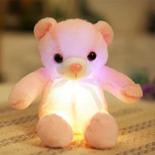 PINkart-USA Online Shopping 35cm 1 32/50Cm Big Colorful Glowing Teddy Bear Luminous Plush Toys Kawaii Light Up Led Teddy Bear