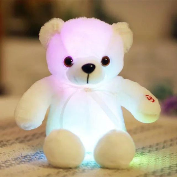 PINkart-USA Online Shopping 35cm 2 32/50Cm Big Colorful Glowing Teddy Bear Luminous Plush Toys Kawaii Light Up Led Teddy Bear