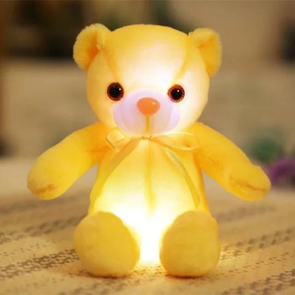PINkart-USA Online Shopping 35cm 3 32/50Cm Big Colorful Glowing Teddy Bear Luminous Plush Toys Kawaii Light Up Led Teddy Bear