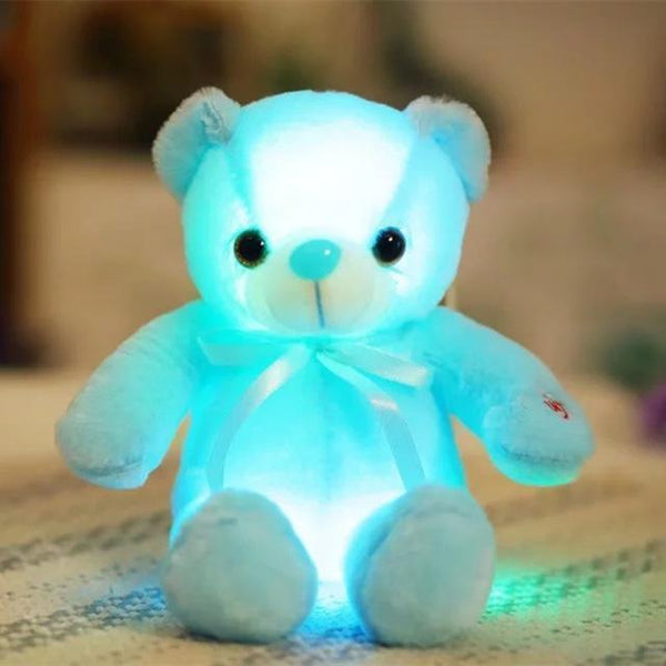 PINkart-USA Online Shopping 35cm 32/50Cm Big Colorful Glowing Teddy Bear Luminous Plush Toys Kawaii Light Up Led Teddy Bear