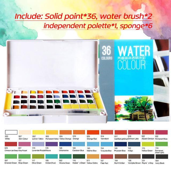 PINkart-USA Online Shopping 36Colors Superior 12 24 30 36 40Colors Pigment Solid Watercolor Paints Set Colored Pencils For Drawing