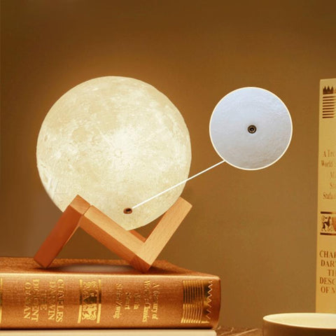 PINkart-USA Online Shopping 3D Magical Led Luna Night Light Moon Lamp Desk Usb Charging Touch Control Home Decor