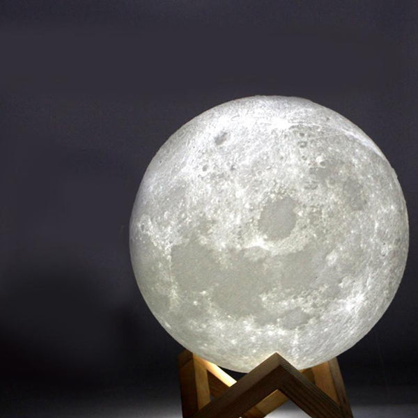 PINkart-USA Online Shopping 3D Printing Moon Creative Night Lights Touch Control Brightness Two Color Romantic Table Lamp