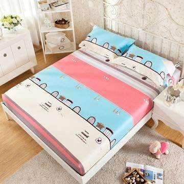 PinKart-USA Online Shopping 4 / 180x200x25cm 100% Cotton Modern Bed Sheets Colorful Cartoon Printing Bedding Fitted Sheet Simply Elastic
