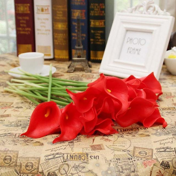 PinKart-USA Online Shopping 4 20 Pcs/Lot Wedding Decoration Elegant Calla Artificial Flowers Decorative Flowers Bouquet