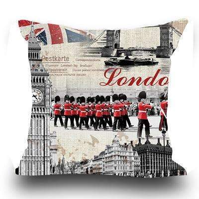 PinKart-USA Online Shopping 4 / 45x45cm Just Cover Miracille Fashion European Decorative Cushions London Style Throw Pillows Car Home Decor Cushion