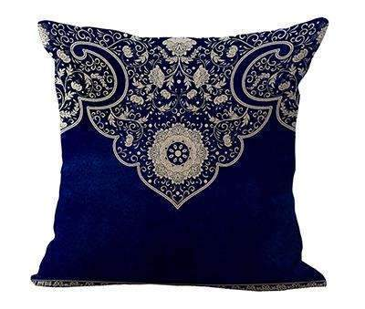 PinKart-USA Online Shopping 4 / 45x45cm Square 18 Linen Cushion Blue And White Porcelain Printed Home Decorative Cushions Almofada For