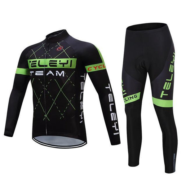 PINkart-USA Online Shopping 4 / 4XL Teleyi Long Sleeve Cycling Jersey Sets Ropa Ciclismo Mtb Bike Jersey Cycling Clothing Maillot