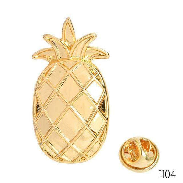 PinKart-USA Online Shopping 4 Cartoon Enamel Pins Fruit Pineapple Apple Brooches Pin Badges Cute Metal Animal Horse