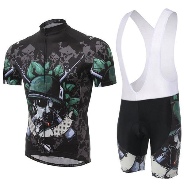 PINkart-USA Online Shopping 4 / L Skull Style Summer Cycling Clothing/Short Sleeve Cycling Jersey Ropa Ciclismo/Mtb Bike Jersey