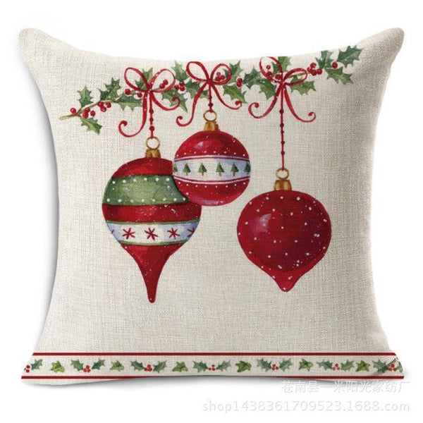 PinKart-USA Online Shopping 4 Merry Christmas Decorations For Home Decorative Throw Pillow Cover Case Green Trees Gift Cushion