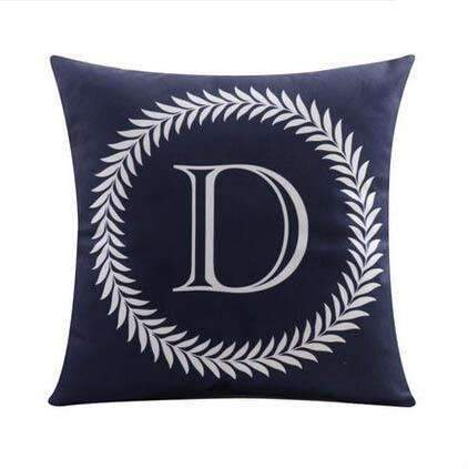 PinKart-USA Online Shopping 4 no filling / 45x45cm 26 Letters Cushions Decorative Pillow Almofada Colorful Pillow Linen Cotton Throw Pillow Cushion Fo