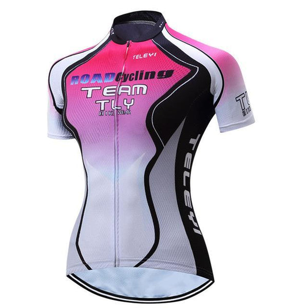 PINkart-USA Online Shopping 4 / S Teleyi 100% Polyester Summer Breathable Cycling Jersey Short Sleeve Road Bicycle Cycling Clothing