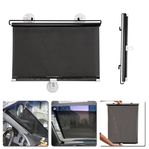 PINkart-USA Online Shopping 40*60Cm Retractable Car Side Window Sun Shade Curtain Windshield Sunshade Visor Shield Cover Mesh