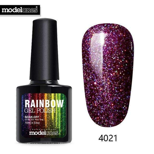 Modelones 10Ml Shimmer Neon Uv Nail Varnishes Led Lamp Vernis Semi Permanent Uv Nail Gel Polish Nai - PINkart-USA