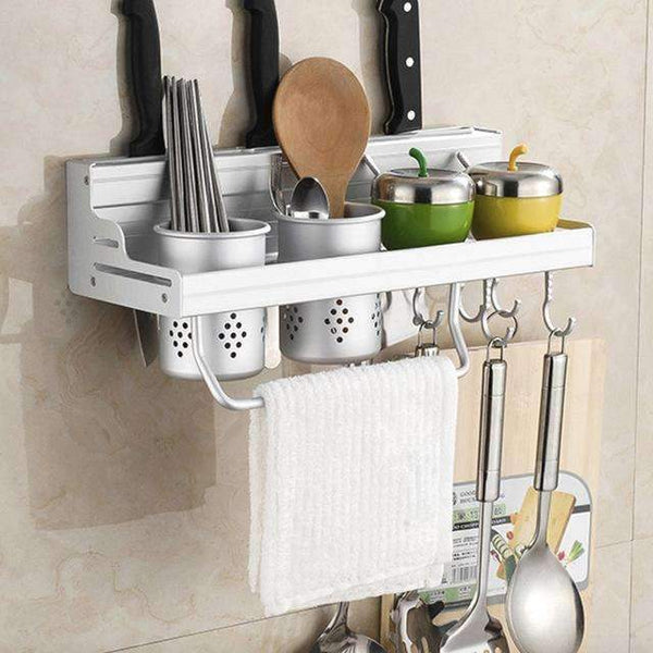 PinKart-USA Online Shopping 40cm two cups Aluminum Kitchen Shelf, Kitchen Rack, Cooking Utensil Tools Hook Rack, Kitchen Holder & Storage