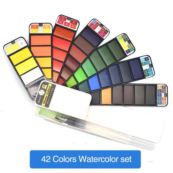 PINkart-USA Online Shopping 42Colors Dainayw 42Colors Pigment Paints Set Solid Watercolor Set