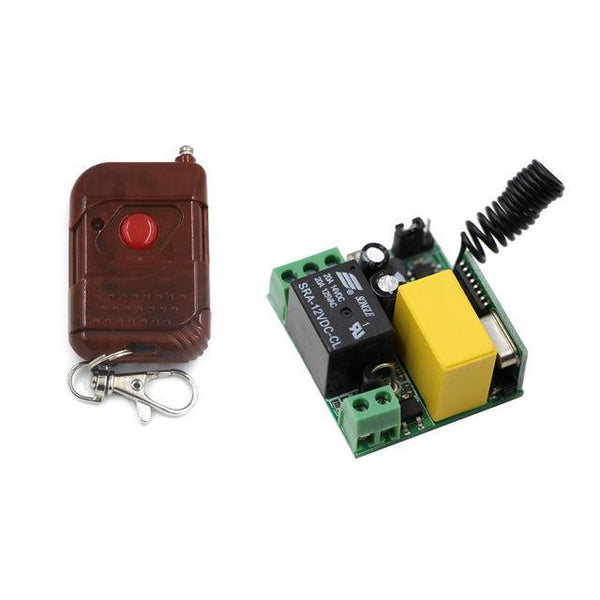 PINkart-USA Online Shopping 433Mhz Ac 220V 1Ch 10A Relay Wireless Remote Control Switch Remote Light Switch System Receiver