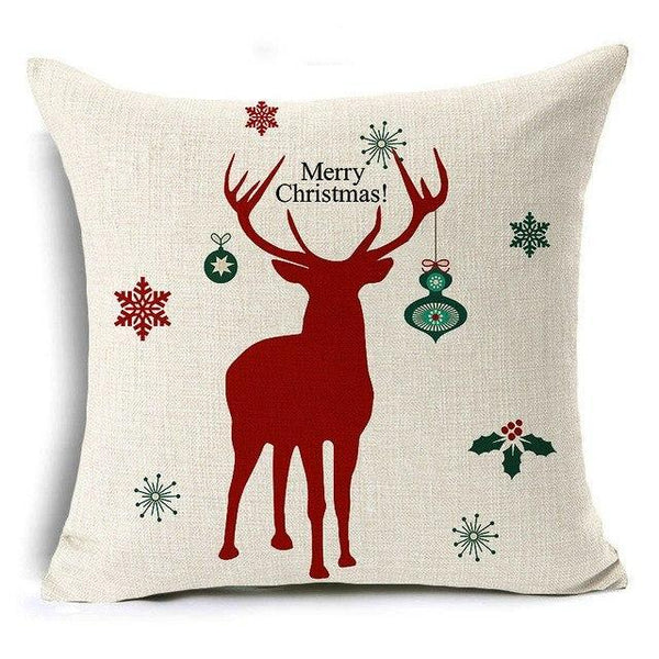 PINkart-USA Online Shopping 43x43 cm / 3 Merry Christmas! Cushion Cover Let It Snow Deer Xmas Santa Claus Socks Balloon Home Decorative