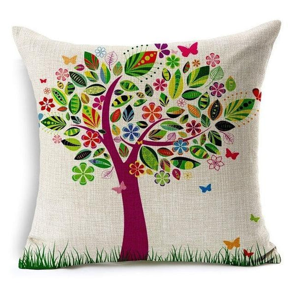 PinKart-USA Online Shopping 450mm*450mm / 1 Hyha Geometric Cushion Cover Flower Tree Of Life Mosaic Throw Pillow Cover Morocco Cushion Cover Fo