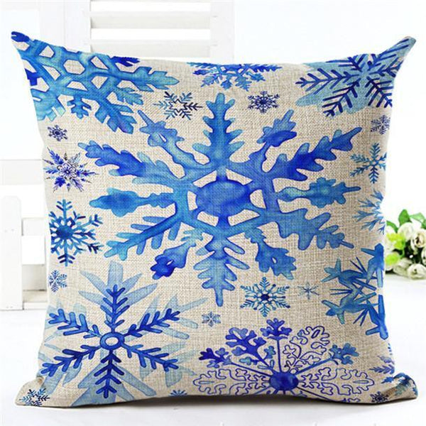 PinKart-USA Online Shopping 450mm*450mm / 15 Merry Christmas Cushion Covers Cotton Linen Printed Decorative Cushion Cover Pattern Throw Pillow