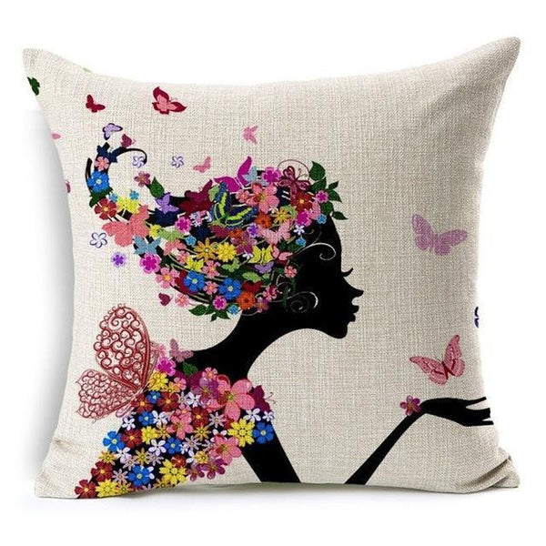 PinKart-USA Online Shopping 450mm*450mm / 2 Hyha Geometric Cushion Cover Flower Tree Of Life Mosaic Throw Pillow Cover Morocco Cushion Cover Fo