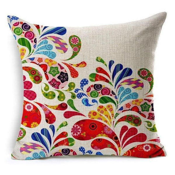 PinKart-USA Online Shopping 450mm*450mm / 4 Hyha Geometric Cushion Cover Flower Tree Of Life Mosaic Throw Pillow Cover Morocco Cushion Cover Fo