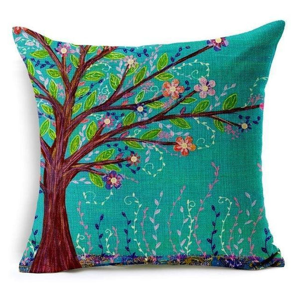 PinKart-USA Online Shopping 450mm*450mm / 5 Hyha Geometric Cushion Cover Flower Tree Of Life Mosaic Throw Pillow Cover Morocco Cushion Cover Fo