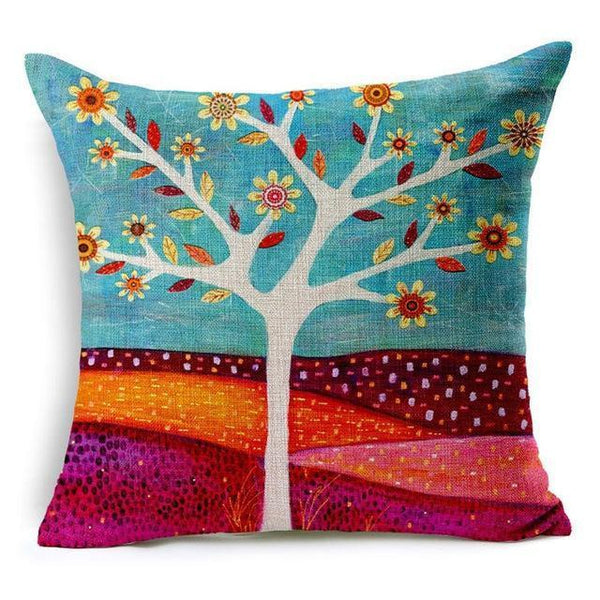 PinKart-USA Online Shopping 450mm*450mm / 6 Hyha Geometric Cushion Cover Flower Tree Of Life Mosaic Throw Pillow Cover Morocco Cushion Cover Fo