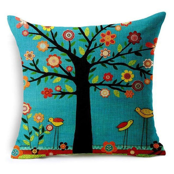 PinKart-USA Online Shopping 450mm*450mm / 8 Hyha Geometric Cushion Cover Flower Tree Of Life Mosaic Throw Pillow Cover Morocco Cushion Cover Fo