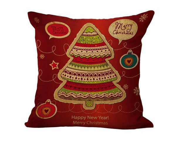 PinKart-USA Online Shopping 45x45cm / 10 Maiyubo Romantic Gifts Christmas Santa Claus Pillow Cover Home Decorative Throw Pillow