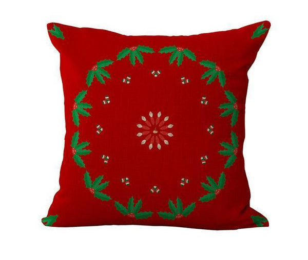 Maiyubo Romantic New Years Gifts Christmas Santa Claus Pillow Cover Home Decorative Throw Pillow - PINkart.in