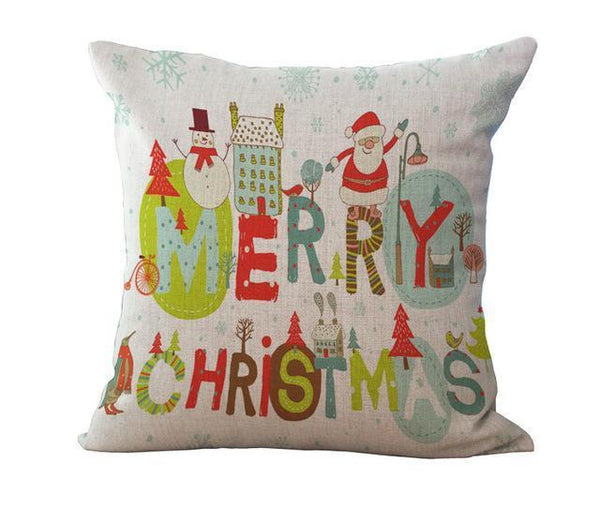 PinKart-USA Online Shopping 45x45cm / 13 Maiyubo Romantic Gifts Christmas Santa Claus Pillow Cover Home Decorative Throw Pillow