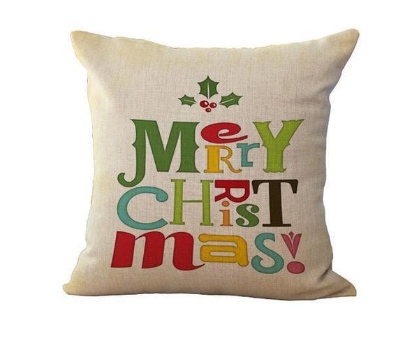 PinKart-USA Online Shopping 45x45cm / 7 Maiyubo Romantic Gifts Christmas Santa Claus Pillow Cover Home Decorative Throw Pillow