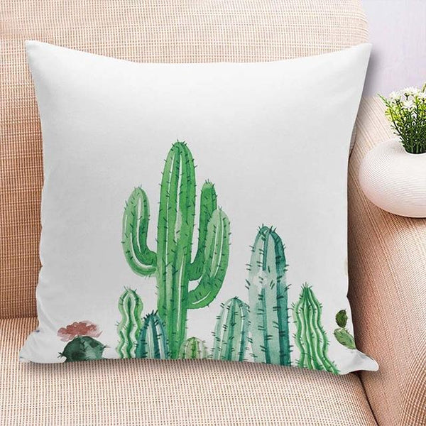 PinKart-USA Online Shopping 45x45cm / China / 1 18'' Colorful Cactus Printed Cushions Cover Fashion Tropical Plant Decorative Throw Pillowcase