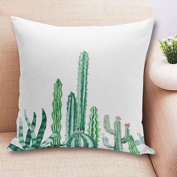 PinKart-USA Online Shopping 45x45cm / China / 2 18'' Colorful Cactus Printed Cushions Cover Fashion Tropical Plant Decorative Throw Pillowcase
