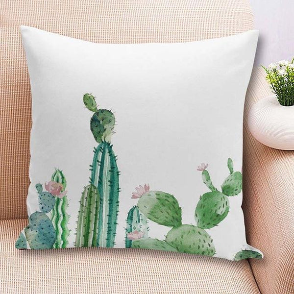 PinKart-USA Online Shopping 45x45cm / China / 3 18'' Colorful Cactus Printed Cushions Cover Fashion Tropical Plant Decorative Throw Pillowcase