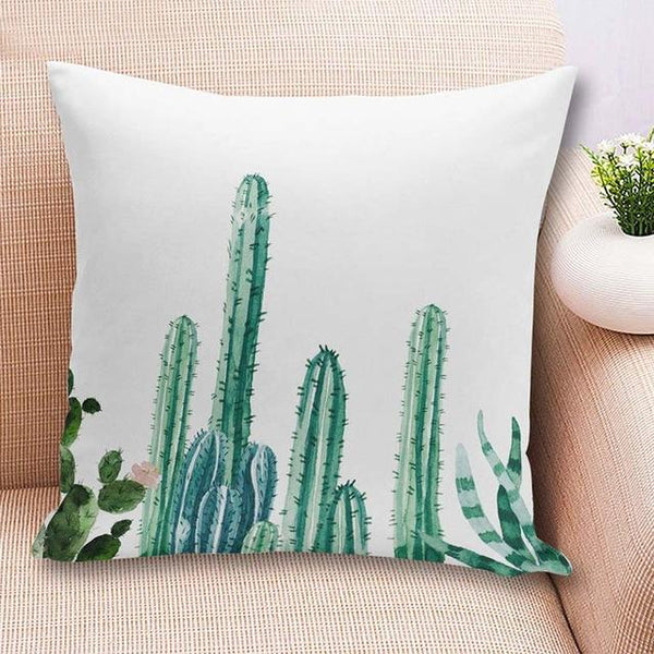 PinKart-USA Online Shopping 45x45cm / China / 4 18'' Colorful Cactus Printed Cushions Cover Fashion Tropical Plant Decorative Throw Pillowcase